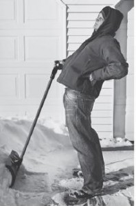 shoveling snow back pain chiropractor chippewa